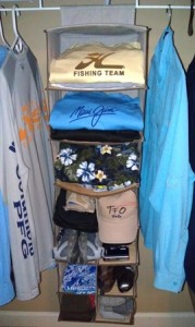 Organizing Fishing Gear Clothing