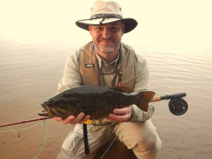 "This 18"" smallmouth bass was caught by Aaron Rubel on a U.P. lake. Photograph by: April Rubel"